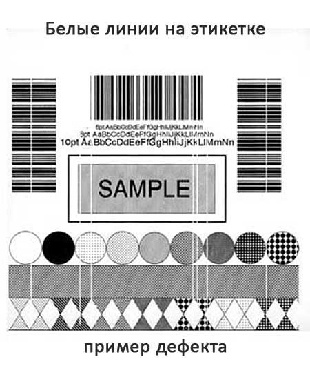 Дефекты печати этикеток - белые полосы