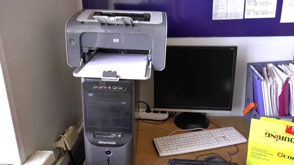 ремонт принтера hp в офисе
